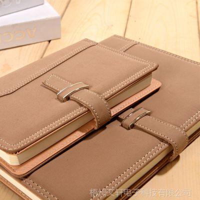 皮面商务笔记本文具办公会议记录本子小定制日记本随身工作记事本