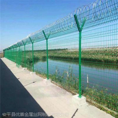 机场监狱看守所隔离网围栏 围墙刺丝滚龙围栏 定制护栏网
