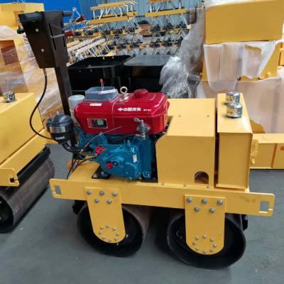 天德立压草坪手扶式双钢轮小型压路机600双液压缸小型压路机