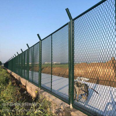 朋英 来样加工镀锌喷塑框架护栏 钢板网护栏 py-001
