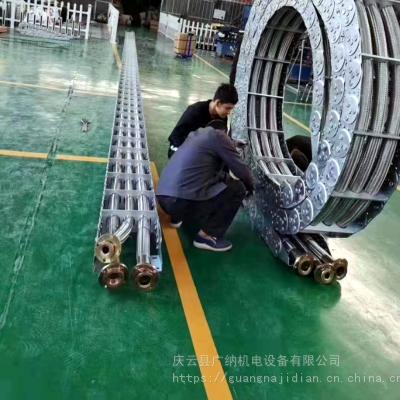 开挖机油管金属托链TL型钢制拖链