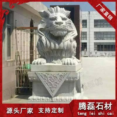 石狮子 惠安九龙星青石石雕狮子按尺寸定做
