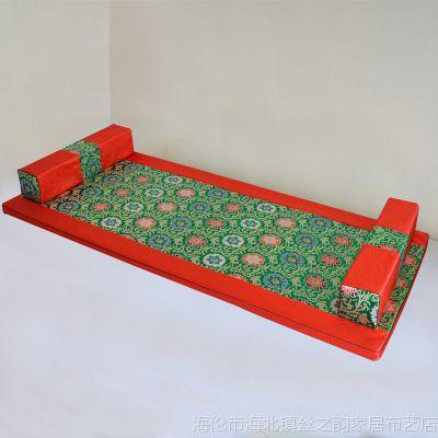 中式红木家具罗汉床垫子五件套飘窗垫海绵垫定制