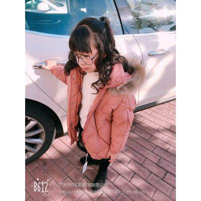 小猪班尼18冬季新款中小童时尚百搭羽绒服 男女童休闲羽绒服外套走份批发