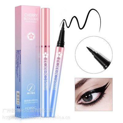 韩婵酷黑细长眼线笔线条流畅上色均匀眼线笔防水防汗不晕染化妆品