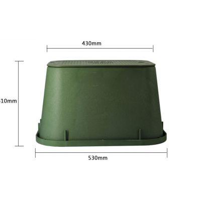 12寸VB1419方形塑料阀门井-电磁阀闸阀门箱园林绿