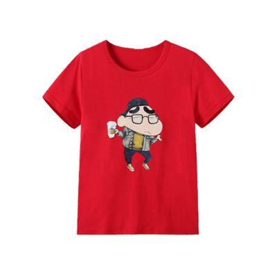 厂家直销 纯棉Q版童装圆领T恤 卡通夏季短袖