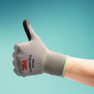 3M手套舒适防滑耐磨手套劳保防护防割工业施工劳保手套