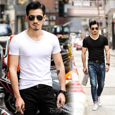 加工男装男式纯棉短袖T恤 韩版广告衫空白t恤活动工服公司来订做