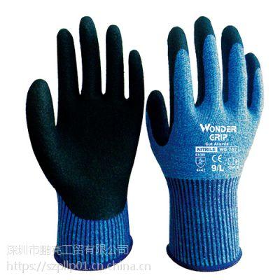 多给力WG-757超柔软型防切割作业手套耐磨抗油舒适优越抓握力