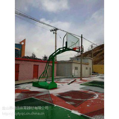诚远体育直销成都大防液压篮球架 2019篮球机***新尺寸