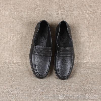 2017春季新品男士休闲皮鞋舒适轻便软底单鞋黑色皮鞋男厂家批发