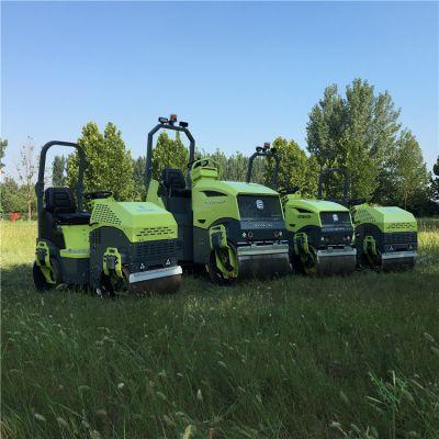 新款卖得好2吨压路机ST2000双碾子震动轧道机出口行货优质压路机