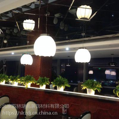 北京厂家定制餐厅单头布艺餐吊灯