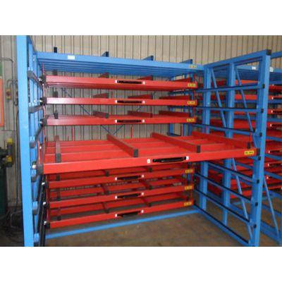 钢板使用货架 天车存取 抽屉式钢板货架 平放架