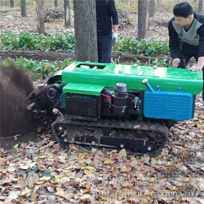 果园大棚履带式田园管理机 果园施肥土杂肥自走式撒料车 履带施肥机黑土地专用富兴