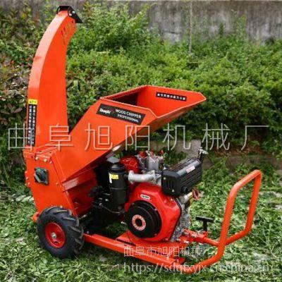 厂家生产多功能园林户外可移动柴油机 木材树枝粉碎机 木条木屑锯末粉末机