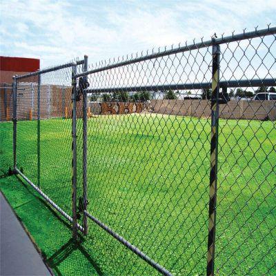 浸塑勾花网护栏 篮球场护栏网 体育场铁丝网