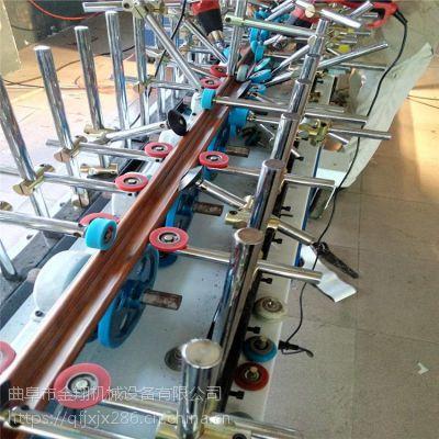 凹凸长城板包覆机 600宽集成墙板全自动包覆机 省时滚胶在线技术