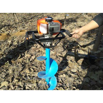 单人手提种树钻洞机快速钻孔利器