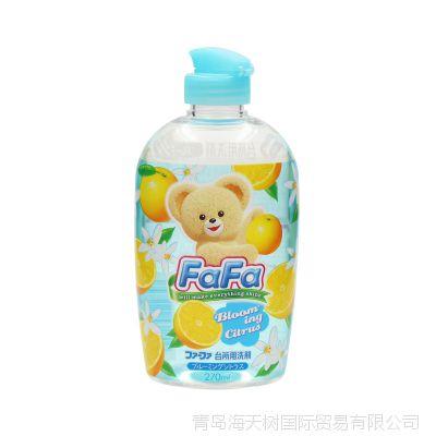 日本进口 fafa小熊厨房果蔬洗洁精奶瓶果蔬餐具清洗剂 270ml
