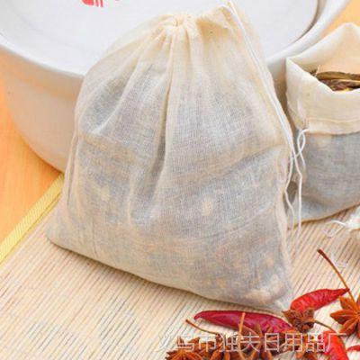 1432大号纯棉抽绳式滤渣袋 厨房用品煲汤袋 卤料香包隔渣袋