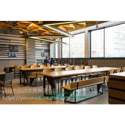 定做实木大理石火锅桌,火锅店烤吧火锅桌椅厂家 简约现代