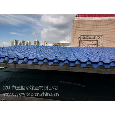 深圳宝安树脂瓦雨棚定制厂家 大型耐力板雨篷厂家