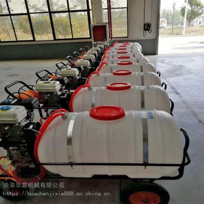 四轮手推式高压打药机/农用汽油喷雾器/300L容量消毒机价格
