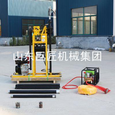华夏巨匠液压勘探钻机不用钻塔接上钻杆就能取样的轻便液压钻机
