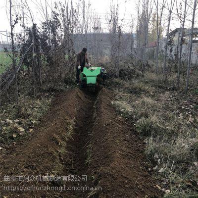柴油履带挖沟机 园林专用履带锄草机 狭小草莓地施肥回填机