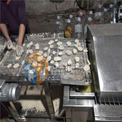 全自动藕合茄盒淋浆机 泵式肉饼淋浆机 淋喷式挂浆机