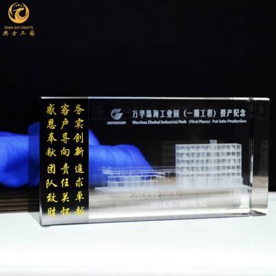 广州商会成立纪念品,广东公司成立礼品批发,水晶内雕五羊广州塔模型摆件