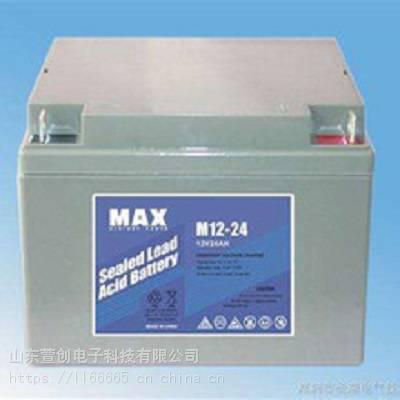 原装MAX蓄电池M12-14 铅酸免维护 12V14AH