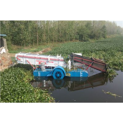 水浮莲打捞机器、清理水浮莲割草船
