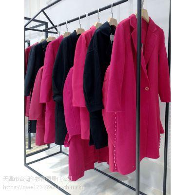玛丝菲尔杭州义乌尾货批发市场地址折扣 品牌时尚女装批发尾货红色外套