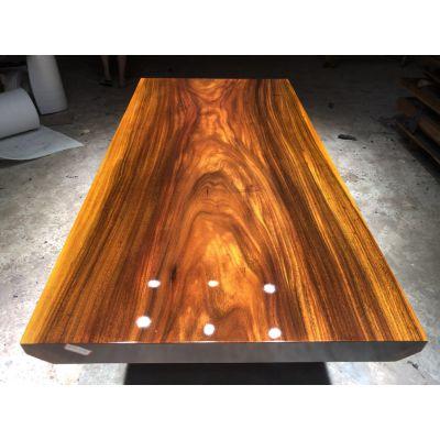 实木大板办公桌 奥坎巴花鸡翅木原木大板茶台现货批发200长100宽