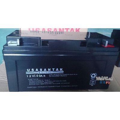 山特蓄电池6GFM100 美国山特蓄电池12V100AH厂家报价
