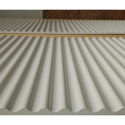 专业雕刻定制波浪板碧桂园形象墙专用装饰板条纹雕刻板