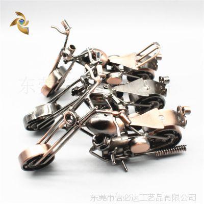 厂家直销金属工艺品摆件家居装饰品 大号铁艺摩托车模型 创意礼品