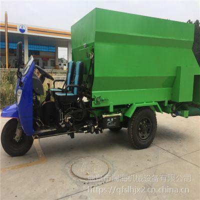 单人操作行走式撒料车 全新牛棚喂料车定制厂家