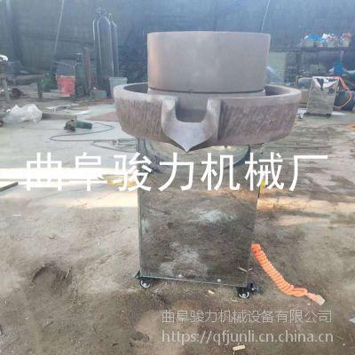 电动花生酱石磨机 骏力豆浆石磨机械 供应米浆机图片 价格美丽