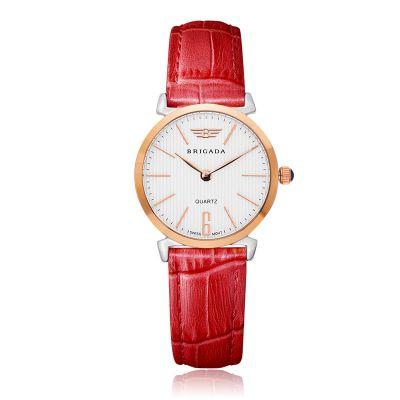 宝茄达正品时尚真皮带学生超薄防水日本进口石英机芯女士手表