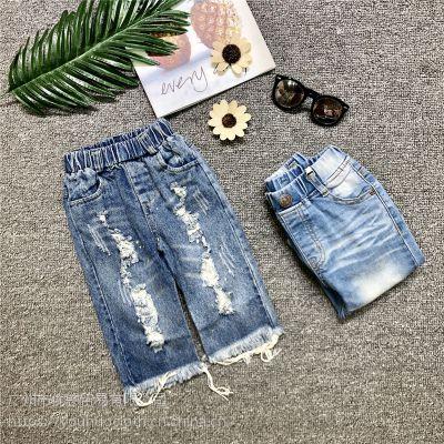 牛仔裤夏装 品牌童装一手货源走份批发