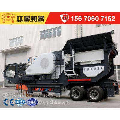 快来看看这个厂家生产的时产百吨车载式流动打沙机比较受客户欢迎