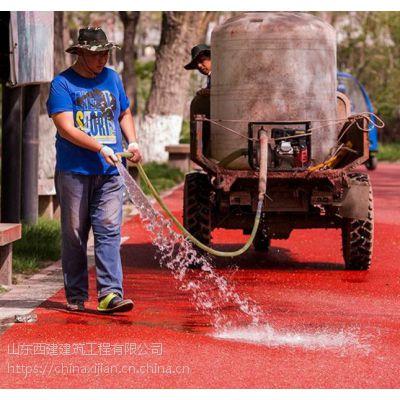 四川成都彩色强固透水混凝土c25标准认准交地品牌