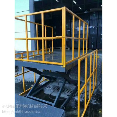 卓阳生产液压升降机固定式升降平台导轨式升降货梯