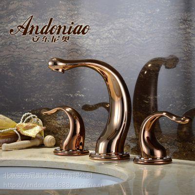 星级酒店卫浴品牌安东尼奥AN636605C玫瑰金施华洛世奇混水龙头