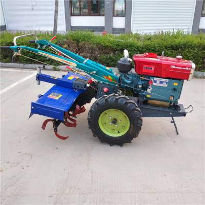水旱两用手扶车拖拉机 水田旋耕机打田机农用多功能拉货车头
