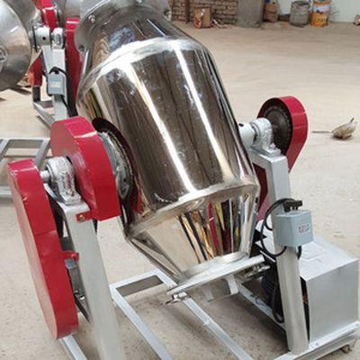 供应不锈钢鼓式搅拌机 密闭式化工原料混合机 多功能粉末搅拌机质保两年